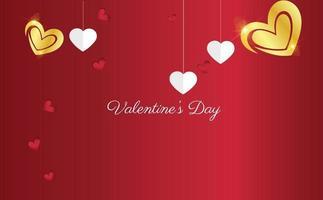 Alla hjärtans dag bakgrund koncept med hjärtan vektor