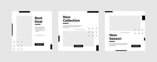 mode försäljning sociala medier postmall. vektor