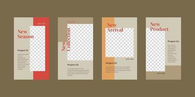 minimalistisk berättelsemall för sociala medier.