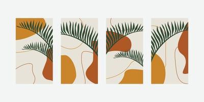 trendige abstrakte universelle Vorlage mit Naturkonzept für Social-Media-Geschichten