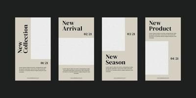 Vorlage für minimalistische Social-Media-Geschichten.