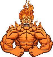 Mann in Flammen