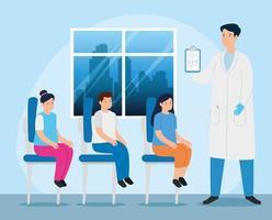 läkare med barn i konsultrummet