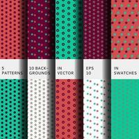uppsättning med 5 mönster vektor