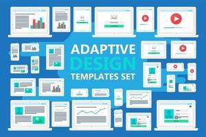 adaptive Webvorlagen vektor