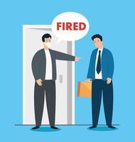 trauriger Geschäftsmann wird gefeuert