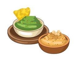 nachos med guacamole mexikansk mat
