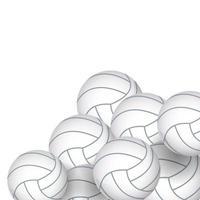 ikoner för volleybollutrustning