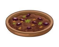 utsökt mexikansk refried bönor traditionell mat