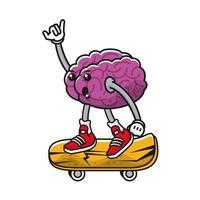 hjärna på komiska karaktär skateboard