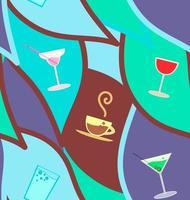 vektor sömlösa mönster med cocktails