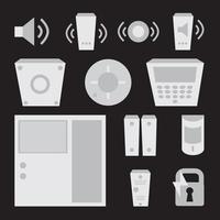 vektor enkel uppsättning detektorer ikoner