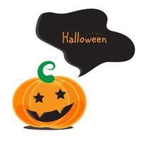 känslomässiga halloween pumpor vektor