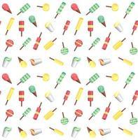 vektor sömlösa mönster från glassar