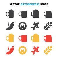 oktoberfest ikoner set