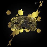 vektor magisk guldmask