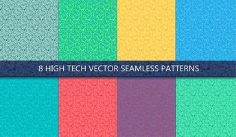 nahtloses Muster des Computerprozessorchips vektor