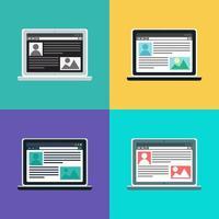 webbmall för datorwebbplats eller artikelformulär