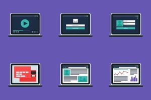 adaptives Webvorlagenformular auf Notizbuch