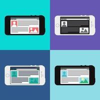 Webvorlage der Smartphone-Site oder des Artikelformulars vektor