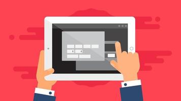 Web-Vorlage des Tablet-Online-Einkaufsformulars vektor
