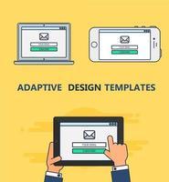Webvorlage des adaptiven E-Mail-Formulars vektor