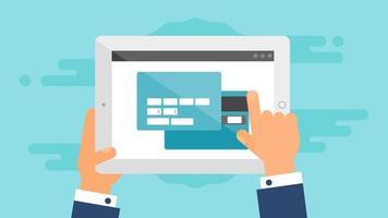 Web-Vorlage des Tablet-Online-Einkaufsformulars