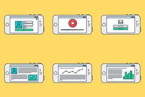 Webvorlagenformular auf dem Smartphone
