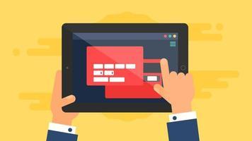 webbmall för surfplattans onlineformulär vektor