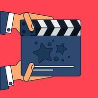 platt film klappbräda vektor
