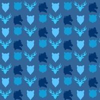 nahtloses Muster der Tierwelt vektor