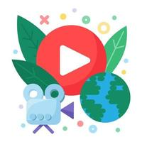 social live stream koncept ikon