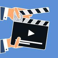flache Filmklappe vektor