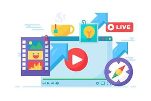 live stream kreativa idé koncept ikon