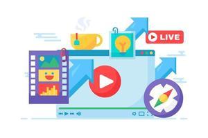 Live-Stream kreative Idee Konzept Symbol vektor
