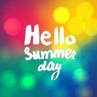 Hallo Sommer Schriftzug vektor