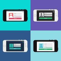 Webvorlage des Smartphone-Anmeldeformulars