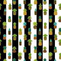 ananas vektor sömlösa mönster