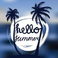 Hallo Sommer Schriftzug