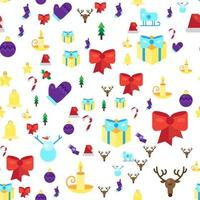 Frohe Weihnachten nahtloses Muster vektor