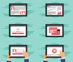 Web Template Formular auf Tablet