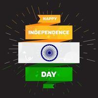 glad självständighetsdagen india hälsning mall vektor