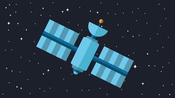 modern kosmosatellit vektor