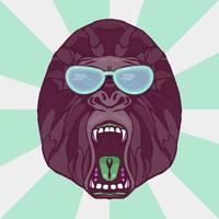 knurrender Gorilla Tattoo