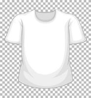 tom vit t-shirt isolerad