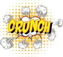 Comic-Sprechblase mit Crunch-Text