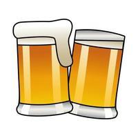 Bierkrüge isolierte Ikone vektor