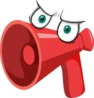 megafon seriefigur med ansiktsuttryck