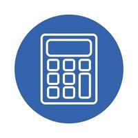 kalkylator matematik block stil ikon vektor