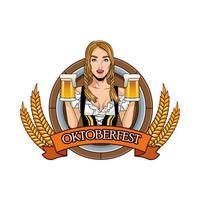 sexy deutsche frau mit bier charakter vektor